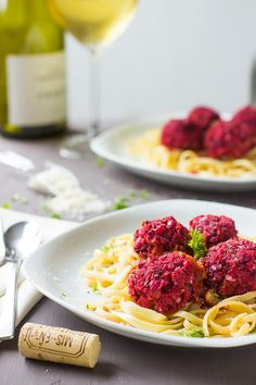 The Rise Of Private Label Brands In The Retail Meals Current Market These Chickpea And Beet Vegetarian Meatballs Are A Sweet And Spicy Protein Packed Dish That Are Great As For Dinner Or Even An Appetizer Best Pasta Recipes, Beet Recipes, Best Vegetarian Recipes, Chickpea Recipes, Good Healthy Recipes, Delicious Vegan Recipes, Vegan Meals, Vegan Food, Vegetarian Meatballs