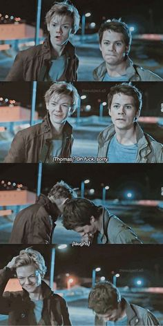 Thomas Brodie Sangster and Dylan O'Brien on the Death Cure Maze Runner Thomas, Newt Maze Runner, Maze Runner Funny, Maze Runner Movie, Maze Runner Quotes, Thomas Brodie Sangster, Maze Runner Trilogy, Maze Runner Series, Book Series