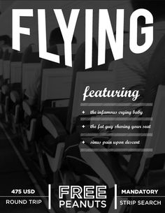 flying - I like the type treatment and overall design.