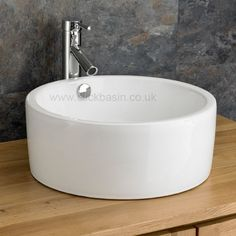 Chunky 41.5cm Diameter Pescara Round Ceramic Washbasin Sink