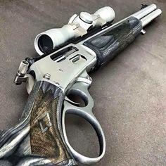Weapons Guns, Guns And Ammo, Armas Wallpaper, Lever Action Rifles, Marlin Lever Action, Custom Guns, Military Guns, Hunting Rifles, Cool Guns