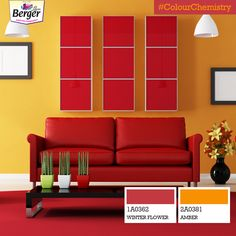 Bright on bright, such a wonderful sight! Don't shy away from using ividcolourstogether, the #ColourChemistry of red and yellow is always a winning combination!