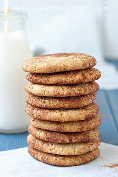 I don't know how this is even possible. my son loves snicker-doodles. I'm so trying these!  Paleo Snickerdoodle Cookies (Egg/Grain/Gluten/Dairy Free)