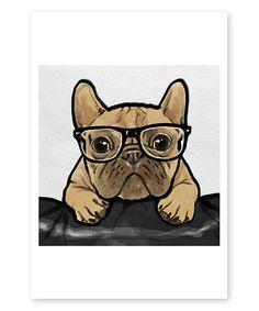 Look what I found on #zulily! Nerdy Frenchman Art Print #zulilyfinds