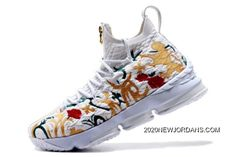 "d7543f2bb8e KITH X Nike LeBron 15 ""Floral"" White Floral-Gold Men s Basketball Shoes  2020 Where To Buy"