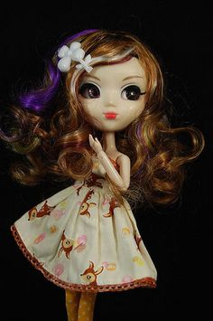Blonde Highlighted Stylish Hair WIG Pullip Dal 1/3 Doll  *Doll not included!*