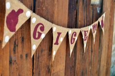 Gig 'em burlap banner for Aggie events!