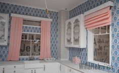 dollhouse mini curtains - how to make and how to dye to preferred colour