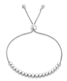 Take a look at this Sterling Silver Beaded Adjustable Bracelet today!