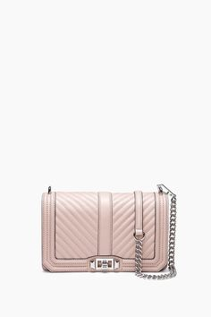 REBECCA MINKOFF CHEVRON QUILTED LOVE CROSSBODY. #rebeccaminkoff #bags #shoulder bags #leather #crossbody #lining #