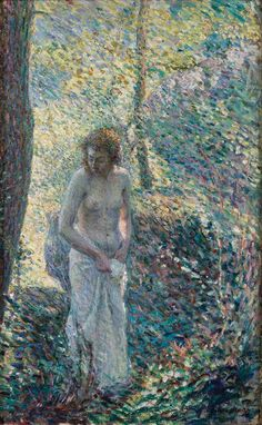 Henri Lebasque - A Girl in the Forest, 1897, oil on canvas, 67.3 x 42.5 cm