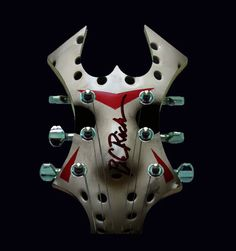 Thought it would be nice to see terror legend jason mask printed on a bc rich warlock widow head stock! - See this image on Photobucket. Guitar Art, Cool Guitar, Bc Rich Warlock Bass, Star Wars Stencil, Bc Rich Guitars, Heavy Metal Guitar, Famous Musicians, Guitar Building, Beautiful Guitars