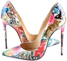 Fancy Shoes, Hot Shoes, Me Too Shoes, Shoes Heels, Louboutin Shoes Women, Stiletto Heels, High Heels, Floral Heels, Christian Louboutin So Kate