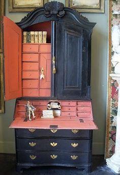 Painted Desks chalk painted secretary desk - google search | country french