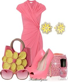 pink + yellow outfit | You can found this at => http://feedproxy.google.com/~r/amazingoutfits/~3/i005Q0lC5Hs/photo.php