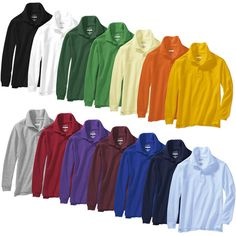 George - Long-Sleeve Polo Value Bundle, Pick 4 Boy or Girl (14 Colors Available) - Save $10 off the Regular Retail