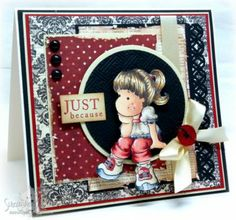 Black and Red Suzanne Dean Scrapbooking Layouts, Scrapbook Cards, Hobbies And Crafts, Diy And Crafts, Magnolia Colors, Step Cards, Magnolia Stamps, Marker Art, Pretty Cards