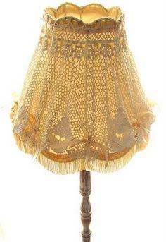 beautiful lace lampshade