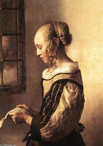 Jan Vermeer - mädchen lektüre a brief bei eine geöffnet fenster ( ausschnitt )
