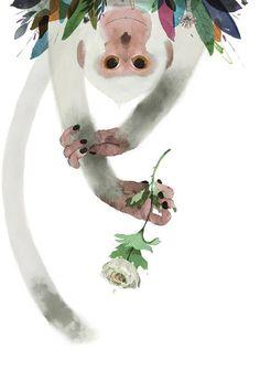 Mono-sapiens Davide Calí y Gianluca Folí Illustration Singe, Digital Illustration, Graphic Illustration, Art Mignon, Monkey Art, Motifs Animal, Fable, Sketchbook Inspiration, Watercolor Animals