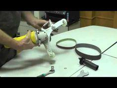 Ленточно-шлифовальная приставка для труб на болгарку - YouTube