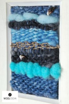 Ocean - Hand woven wall hanging // weaving // telar decorativo made by WooL LooM - www.facebook.com/WooLLooM