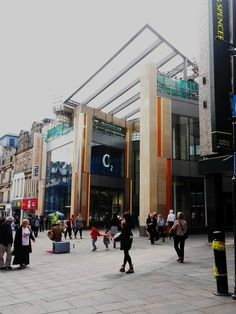 Remodelled entrance to Eldon Square Shopping Centre, Newcastle