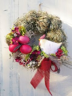 Diy Spring Wreath, Diy Wreath, Easter Wreaths, Christmas Wreaths, Spring Projects, Egg Decorating, Easter Crafts, Diy For Kids, Textiles
