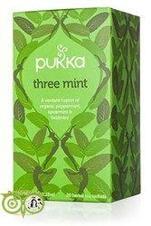 Pukka Thee MInt Heerlijke thee van 3 soorten muntblad. Zoet maar toch intens fris  Ingredienten Pepermuntblad(34%), kruizenmuntblad (34%), veldmuntblad (32%) 100% gecertificeerd biologisch.