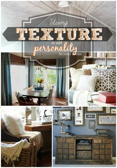 Give your room personality by adding TEXTURE! #spon @Remodelaholic #decorating #tips