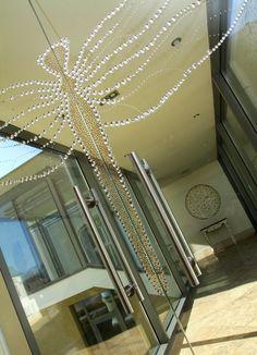 Our references - Luxury glass door with Swarovski crystals Naše referencie - sklenené dvere so Swarovského kryštálikmi #glassdoor #luxury #glassdesign #glasswall #Swarovski
