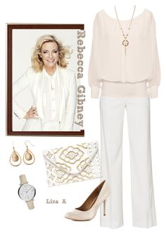 """Contest: Australian Actresses - Rebecca Gibney"" by labond ❤ liked on Polyvore featuring Beauty Secrets, Vince, WearAll, Lulu*s, Chinese Laundry and FOSSIL"