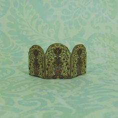 Dollhouse Miniature Floral Arched Folding Mantel by beadcharmed