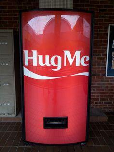 We love coca cola! Coke, Coca Cola, Hug Machine, Poster Ads, Pill Boxes, Hug Me, Advertising, Neon Signs, Cool Stuff