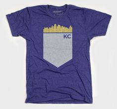 Kansas City Skyline Indigo by Bumpleft on Etsy Kansas City Skyline, Kansas City Royals, Spirit Shirts, Royal Fashion, New Wardrobe, Indigo, Trending Outfits, My Style, Mens Tops