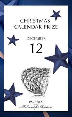 Do not miss out on this amazing prize the 12th of December #PANDORAring #PANDORAchristmascontest | www.goldcasters.com