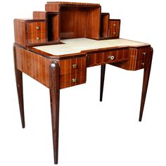Art Deco Secretaire Desk Signed by Haetges Freres | From a unique collection of antique and modern desks and writing tables at https://www.1stdibs.com/furniture/tables/desks-writing-tables/