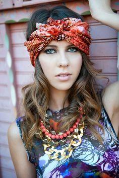 70s hair scarf