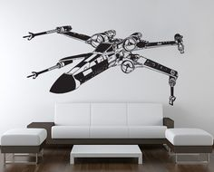 Star Wars XWing Fighter vinyl wall decal  WD0305 van Tapong op Etsy, $32.99