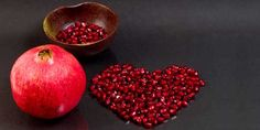 FOODS OF LOVE:  POMEGRANATE - This ruby red fruit is plump with juicy seeds, symbolic of fertility and life and exquisite tossed in salads and used as garnish to brighten up the Valentine's Day meal.