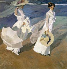 190 Giclee Canvas Print Joaquín Sorolla Beach at Valencia