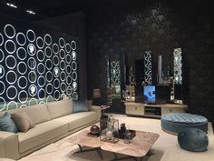 Alberta sofas in a glitzy and fashionable setting – Salone del Mobile 2016