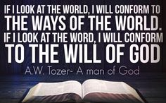 Aiden Wilson Tozer (April 21, 1897 – May 12, 1963) was an American Christian pastor, preacher, author, magazine editor, and spiritual mentor. For his work, he received two honorary doctorate degrees. Prayer was of vital personal importance for Tozer. Among the more than 40 books that he authored, at least two are regarded as Christian classics: The Pursuit of God and The Knowledge of the Holy. His books impress on the reader the possibility and necessity for a deeper relationship with God.