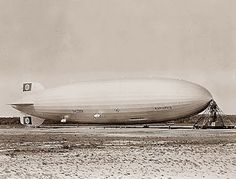 "This picture was taken on January 25, 1937 in New Jersey and shows the German airship ""Hindenburg"". The Hindenburg was used to carry people, mail, and some freight between Germany and the United States or South America."