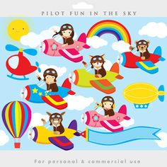 Little pilots clipart