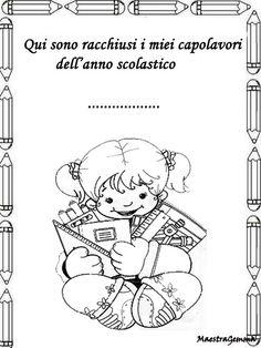 Copertina di italiano da stampare e colorare for Maestra gemma scuola dell infanzia