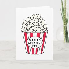 Shop World's Greatest Pop - Father's Day Card created by MellowMottos. Fathers Day Cards Handmade, Happy Fathers Day Cards, Fathers Day Crafts, Happy Mothers, Father Birthday Cards, Bday Cards, Graduation Cards, Daddy Birthday, Girlfriend Birthday