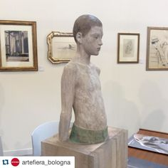 "#Repost @artefiera_bologna  #brunowalpoth #sculpture ""Patrick""  #brescia #incisione #gallerincisione  #Artefiera #artefierabologna #artefiera2016 #artefiera40 #contemporaryart #artecontemporanea #art #arte"