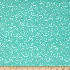 Riley Blake Oh Boy! Swirls Aqua from @fabricdotcom  Designed by Lori Whitlock for Riley Blake, this cotton print is perfect for quilting, apparel and home decor accents.  Colors include white and aqua green.