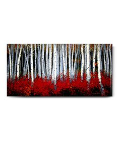 Want to recreate a painting like this  Loving this Aspens Outdoor Canvas Wall Art on #zulily! #zulilyfinds  #prints #printable #painting #canvas #empireprints #teepeat
